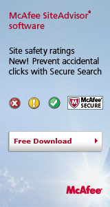 McAfee SiteAdvisor software