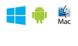 Compatible with Windows XP, Windows Vista, Windows7, Windows 8, MAC OS X, Google Android and BlackBerry