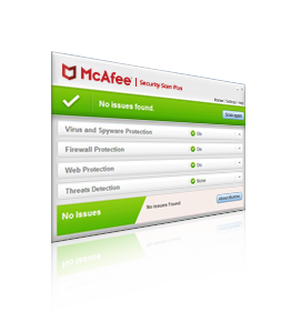 mcafee security scan plus actively checks your computer for anti virus